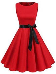 vestido rojo pin-up