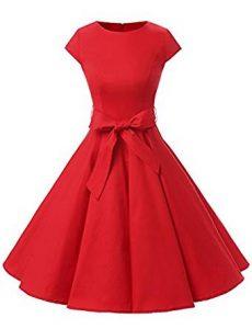 vestido rojo con lazo