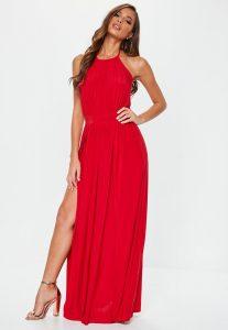 vestido rojo de noche vieja