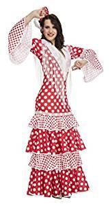 vestido rojo de sevillana