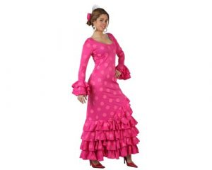 vestido rosa de flamenca