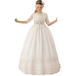 vestido de comunion sencillo