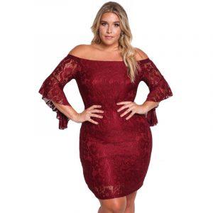 vestido tallas grandes con encaje