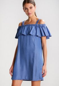 vestidos vaqueros off shoulder