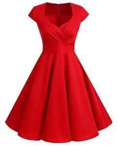 vestido vintage rojo