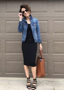 vestidos con chaquetas de jean
