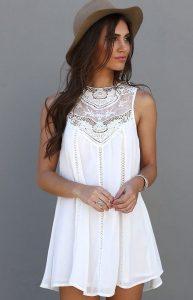 vestidos blanco playeros
