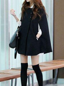 vestido con capa