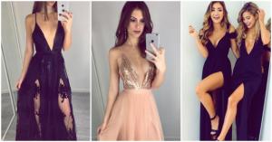 vestidos de gala con escote