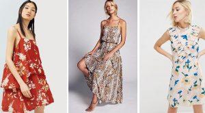 vestidos de flores baratos