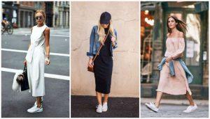 vestidos con tenis