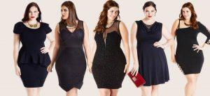 vestidos negros tallas grandes