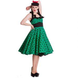 vestido pin-up verde